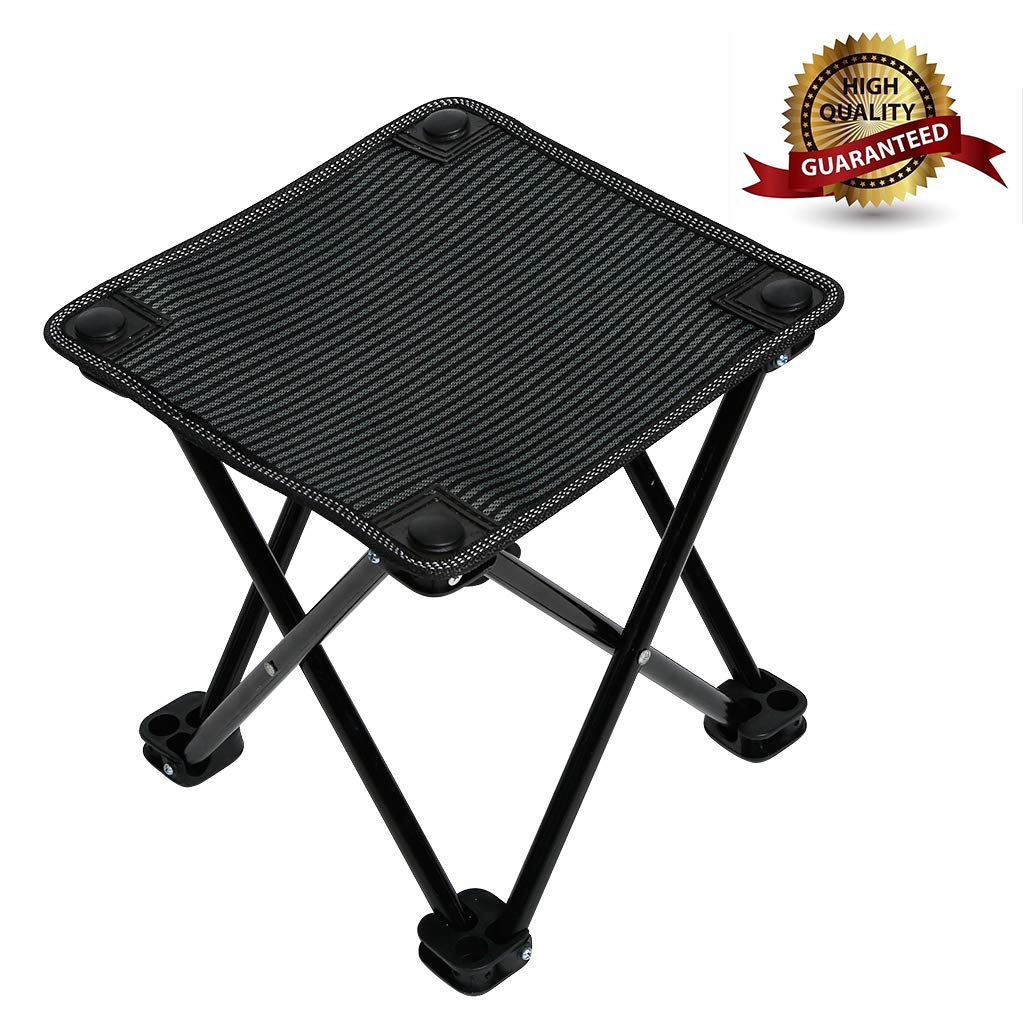 Garne T Mini Portable Folding Stool,Outdoor Folding Chair for Camping,Fishing,Travel,Hiking,Garden,Beach, Quickly-Fold Chair Oxford Cloth with Carry Bag by Garne T