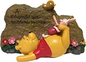 Pooh Garden Rock, Classic Winnie-The-Pooh Collection, Hand-Painted, Stands 5 Inches Tall by 7.5 Inches Wide.Official Disney Licensed Product