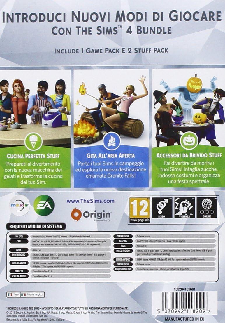 The Sims 4 - Bundle 3 Pack: Gita AllAria Aperta, Cucina Perfetta, Accessori Da Brivido [Importación Italiana]: Amazon.es: Videojuegos