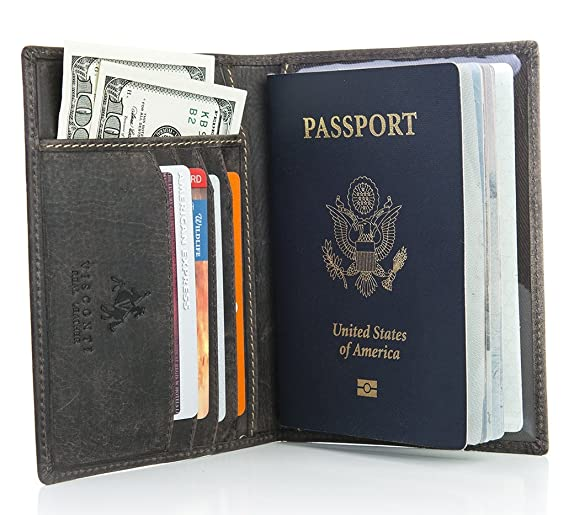Visconti Hunter 732 RFID Blocking Distressed Leather Passport Cover