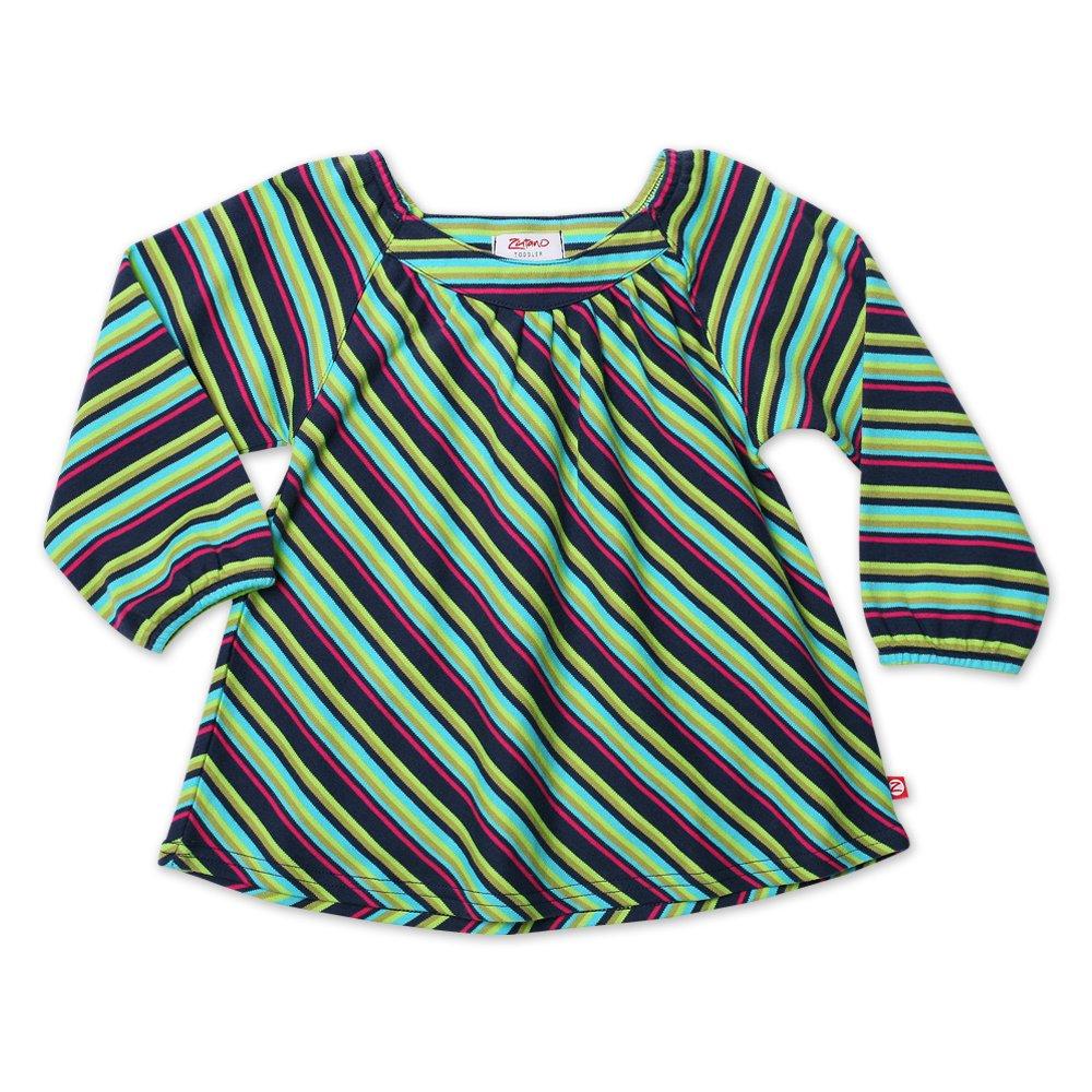 Zutano Little Girls Midnight Stripe Long Sleeve Viola Top