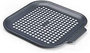 Instant Pot Official Air Fryer Nonstick Perforated Pizza Pan, 8-Inch, Gray