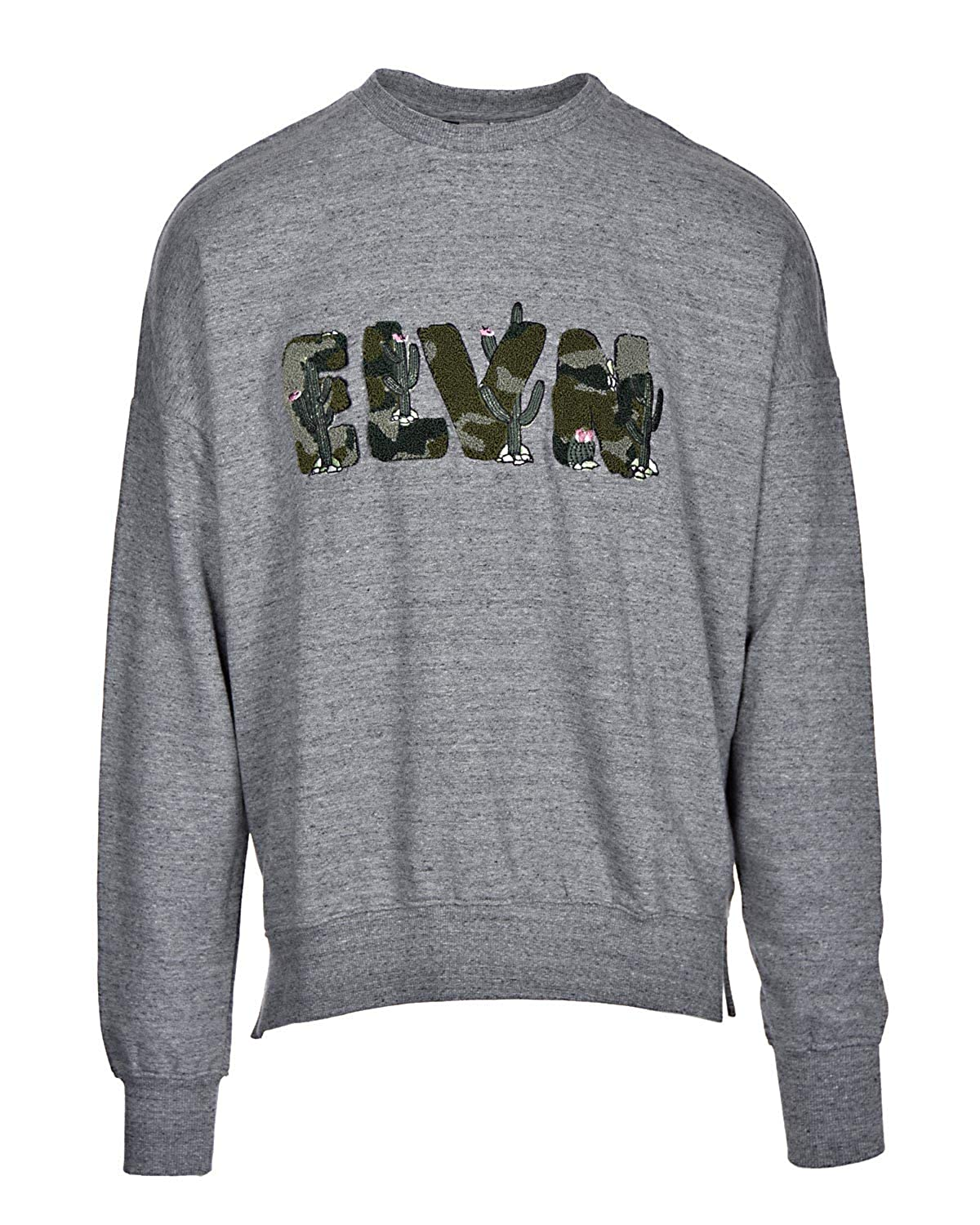 Eleven Paris Crewneck Sweatshirt Size Large L Grunder Grey Carpet Patch Nacher 17F1SW13