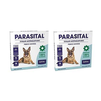 Parasital Collar Antiparasitario de 75 cm para Perros Grandes de Zotal, Pack de 2 -