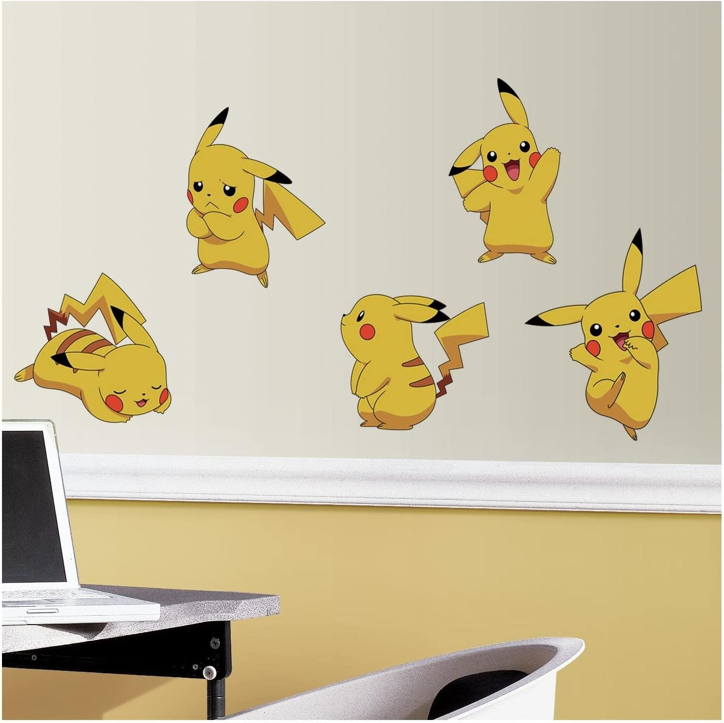 RoomMates Pokemon Pikachu Peel And Stick Wall Decals - RMK3596SCS