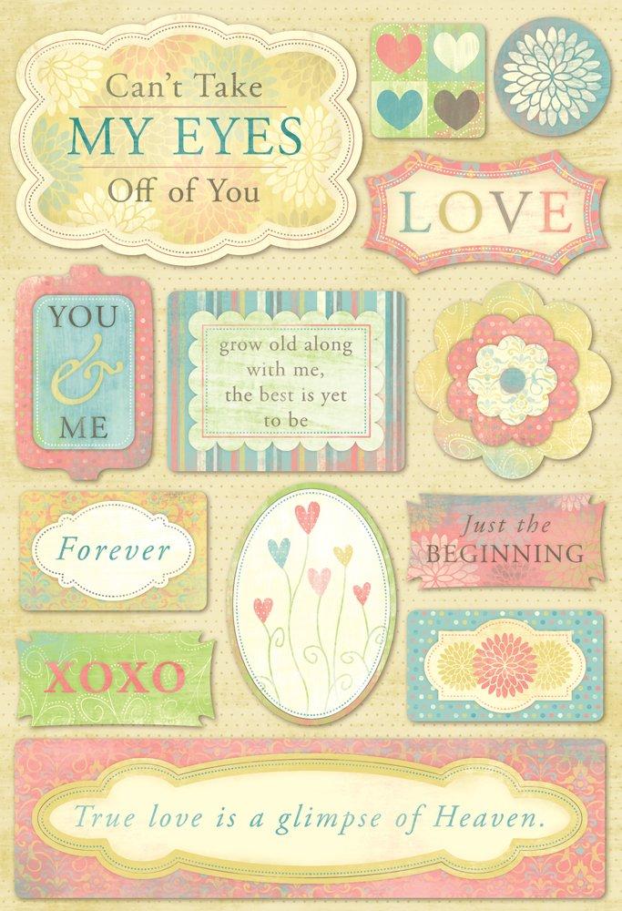 KAREN FOSTER Cardstock Sticker Sheet, Love