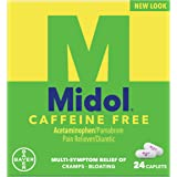 Midol, Caffeine Free, Menstrual Period Symptoms Relief Including Premenstrual Cramps, Pain, Headache, and Bloating, For Teens