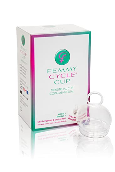 FemmyCycle Menstrual Cup Regular Size – No Spill Design. Reusable, Eco- Friendly,