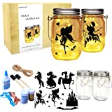 Onnetila Fairy Lantern Craft Kit (2 Pack) Dinosaur Nightlight Kit Make Your Own Fairy Lantern Dino Jar - DIY Craft…