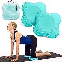 Peakally yoga-kniebeschermer, 2 stuks, zachte schuimyogamat voor knieën, polsen, handen en ellebogen, geschikt voor yoga…