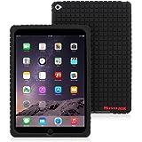 iPad Air 2 Case, Snugg Black Silicone Case [Non-Slip Material] Protective Rubber Back Case Cover Apple iPad Air 2