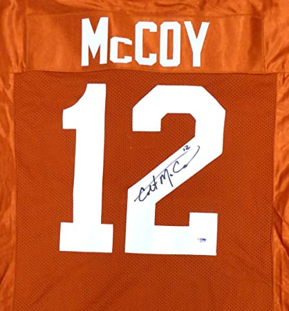 c6fca556922 Image Unavailable. Image not available for. Color: Texas Longhorns Colt  McCoy Signed Auto Orange Jersey ...