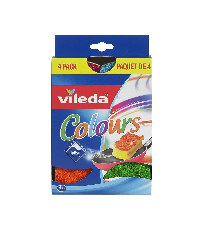 Vileda Colours Scourers Scrubbing Sponges (Pack of 4)