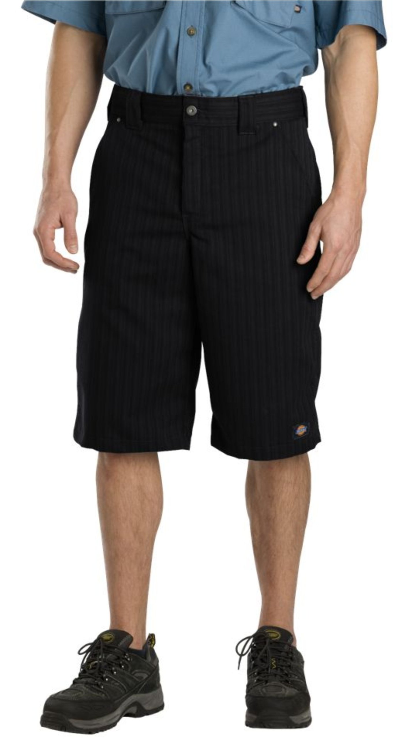 Dickies Men's 13 Inch Regular Fit Shadow Stripe Short, Black, 44