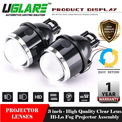 Uglare Iphcar 3 Inch Bi Xenon Fog Projector Lens Amazon In Car