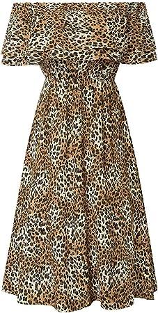 GRACE KARIN Vestido Mujer de Gasa Hombros Descubiertos Estampado Vívido de Verano 3 Formas de Usar
