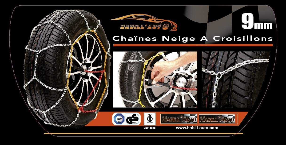 HABILL-AUTO Chaines Neige Manuelle 9mm 245//45 R18-245 45 18-245 45 R18