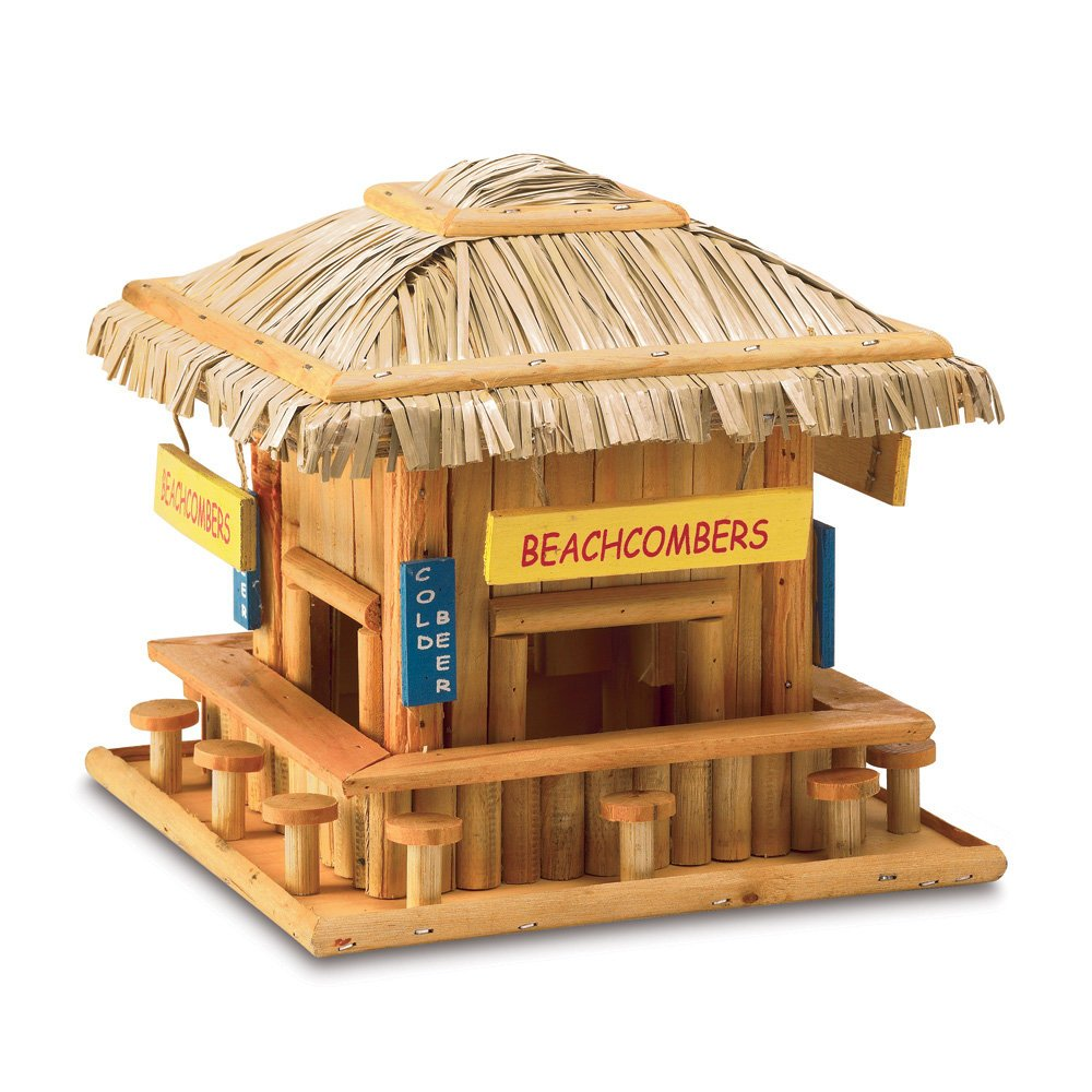 Koehler Home Decor 34715 8.25 Beach Hangout Birdhouse Outdoor Decor Smart Living SS-KHD-34715