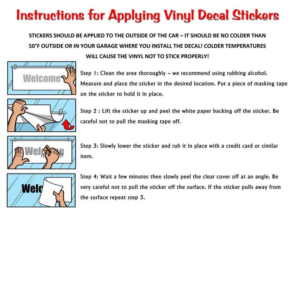Vinyl sticker instructions