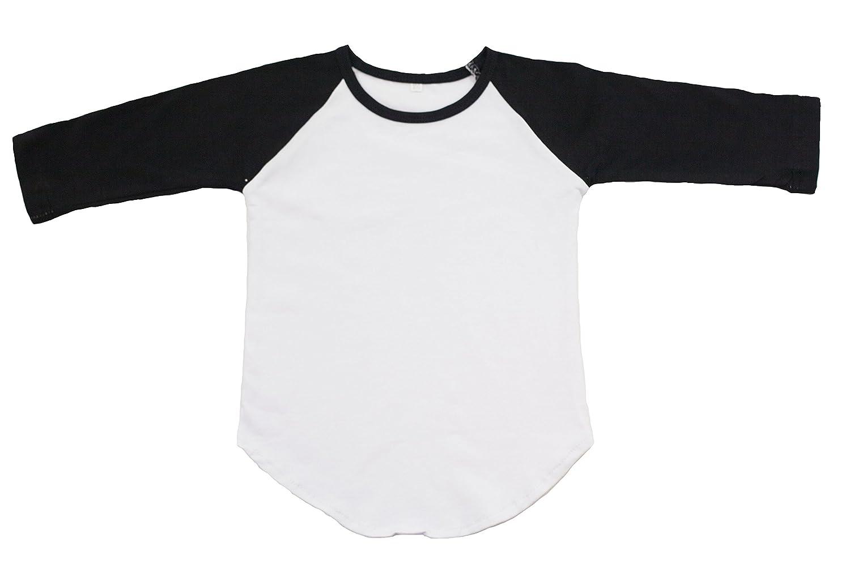 efb2b0da906 Amazon.com  BLACK Toddler Girl's Raglan Shirt Baseball Blank T-Shirt   Clothing