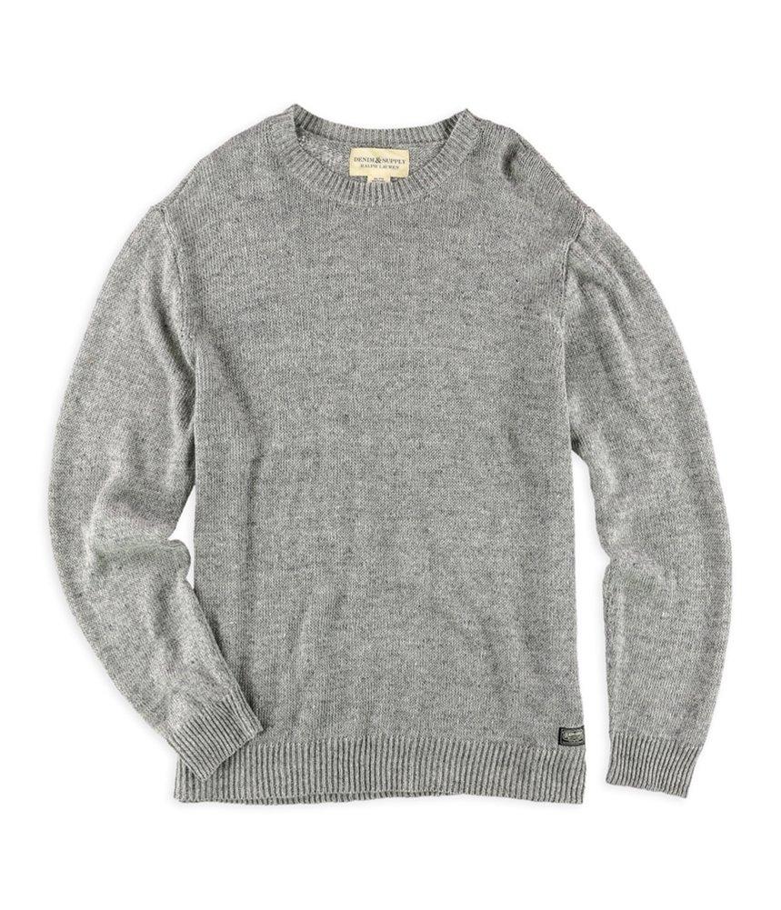 Denim & Supply Ralph Lauren Men's Crew Neck Sweater, Grey, XL