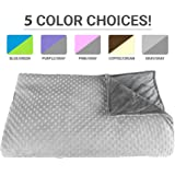Premium Weighted Blanket, Perfect Size and Weight (12lb) For Adults and Children. Deluxe CALMFORTER(tm) Blanket Relieves Anxiety, Stress, Agitation, Insomnia. (Moonshadow Gray/Chinchilla Gray)