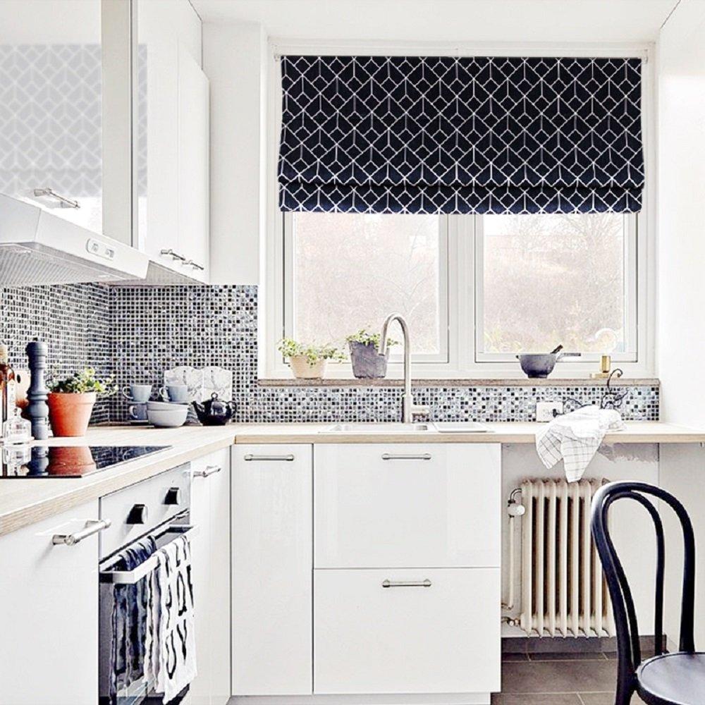B01N57IPR8 36W x 63H, Orange KARUILU home Quick Fix Washable Roman Window Shades Flat Fold Classic Strip