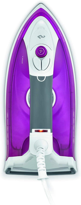 Severin BA 9659 Plancha de vapor suela cerámica, 2200 W, 400 ml, 400 milliliters, Violeta/Blanco