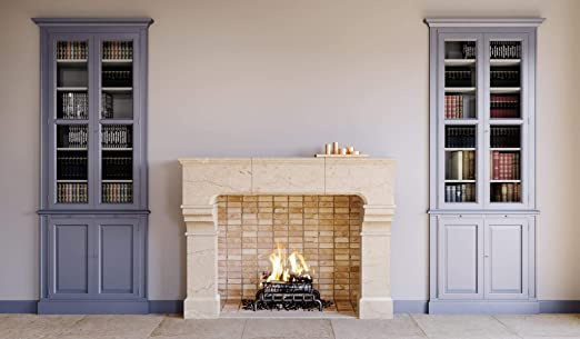 Amazon Com York Transitional Real Stone Fireplace Mantel And