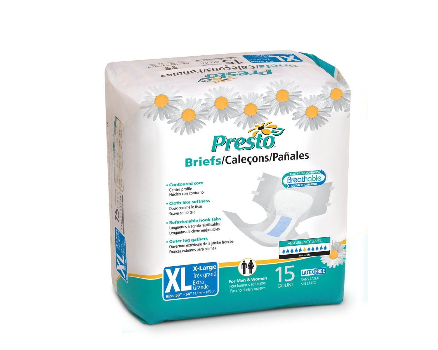 Amazon.com: Presto Protective Underwear, X-Large, 14-Count (Pack of 4): Health & Personal Care