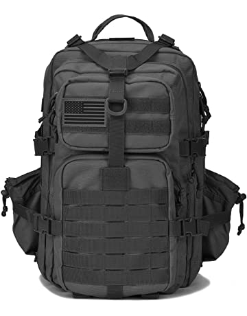 Military Tactical Backpack w/Bottle Holder, Small 3 Day Assault Pack Army Molle Bug