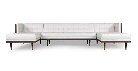 Amazon.com: Kardiel Woodrow Midcentury Modern Box Sofa U ...