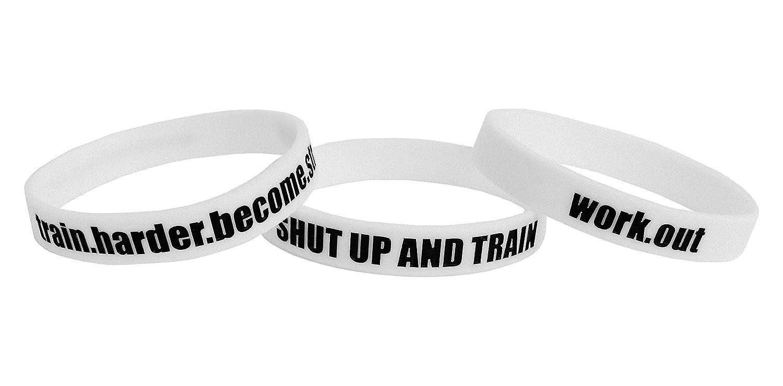 bodybuilding Go Hard or Go Home 3 X bracciali sportivi unisex accessorio in silicone elastico palestra crossfit. fitness per allenamenti