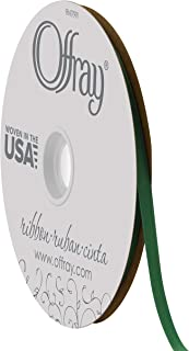 """product image for Offray 1/4"""" Wide Double Face Satin Ribbon, 100 Yards, Forest Green"""