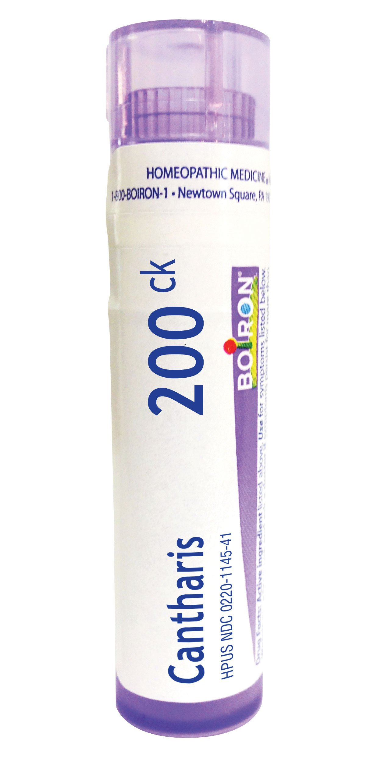 Boiron Cantharis 200C, 80 Pellets, Homeopathic Medicine for Blisters and Bladder Infections