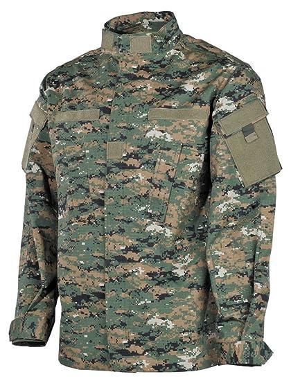 7ec896c3b2f Amazon.com  MFH Mens ACU Field Jacket Ripstop Digital Woodland  Clothing