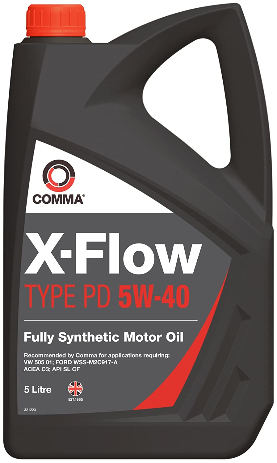 Comma XFPD5L 5L X-Flow Type PD Fully Synthetic 5W40 Motor Oil Comma Oil & Chemicals Ltd.