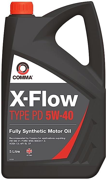 Comma XFPD5L X-Flow - Aceite sintético de motores diésel y gasolina de vehículos (