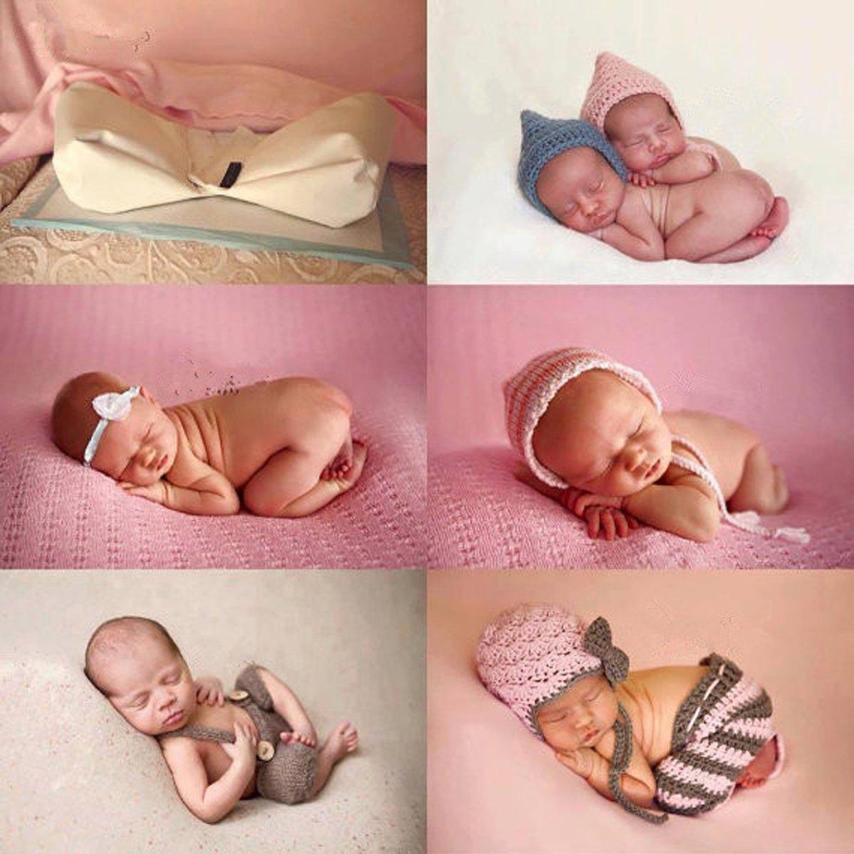 Huntfgold Newborn Photography Butterfly Posing Pillow Infant Poser Positioner Pillow Photo Prop Baby Basket Filler Kit White