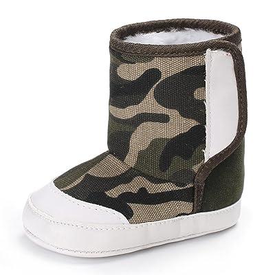 Binmer(TM) Toddler Baby camouflage Soft Sole Crib Snow Boots