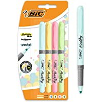 BIC Pastel, Highlighter Grip, Marcadores Punta Ajustable, Multicolor