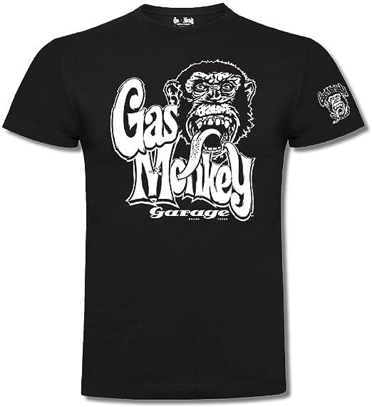e17e4f10c Gas Monkey Garage T-Shirt Kids OG Logo Black-3-4 Jahre: Amazon.co.uk ...