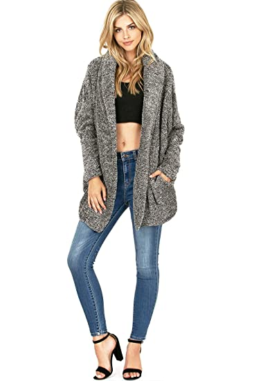 drop shipping outlet sale terrific value Thinkable Women's Cozy Oversize Plush Knit Layering Cardigan ...