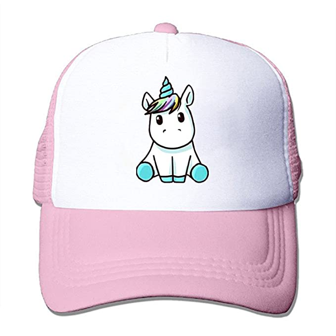 Image Unavailable. Image not available for. Color  ZMvise Unisex Cute Baby  Unicorn Chibi Custom Printed Cute Baseball Cap Trucker Mesh Hat 92d39f04bc5f