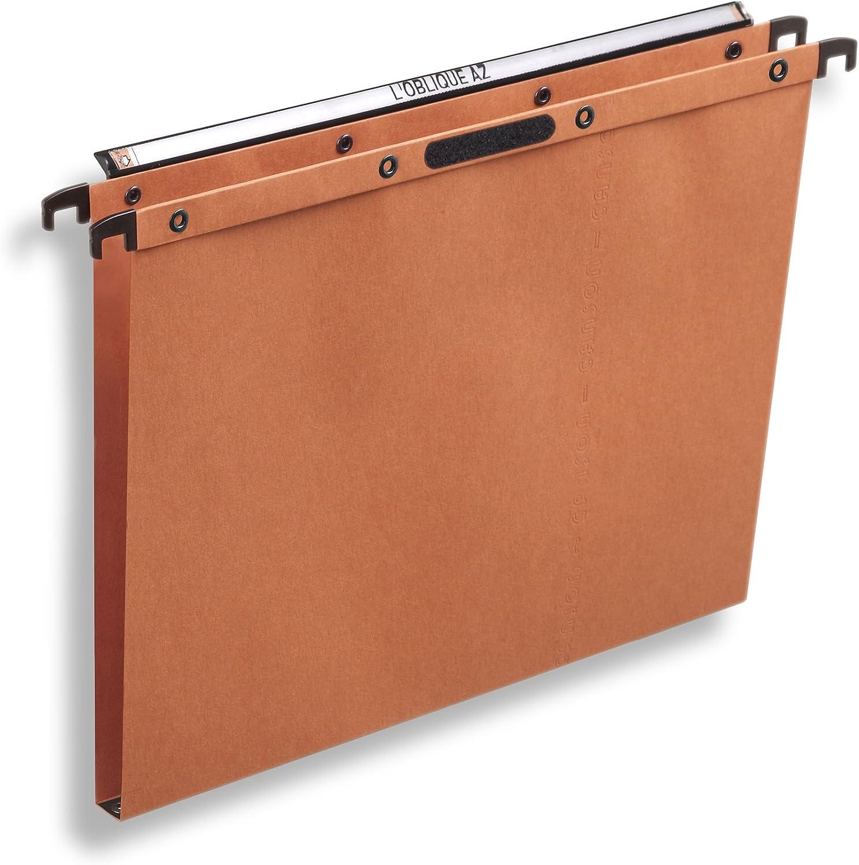 L Oblique AZ/ /Confezione da 25/cartelle sospese AZ per fondo AZX Kraft Arancione A4 Fondo a V arancione