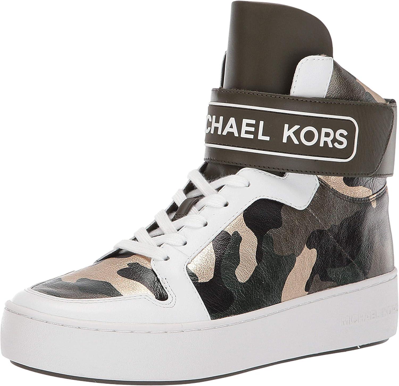 MICHAEL Michael Kors Trent High Top Olive Multi Camo Printed