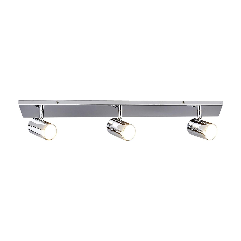 Lampenwelt DeckenleuchteDejan dimmbar (spritzwassergeschützt) (Modern) in Chrom aus Metall u.a. für Badezimmer (3 flammig, GU10, A++) | Bad-Deckenleuchte, Deckenlampe, Lampe, Badezimmerleuchte [Energieklasse A++]