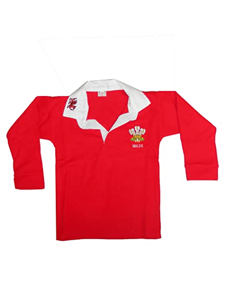 e2214912f59 Childrens Wales Cymru Tops 6 Nations World Cup Kids Full Sleeve Rugby Retro  Shirts: Amazon.co.uk: Clothing