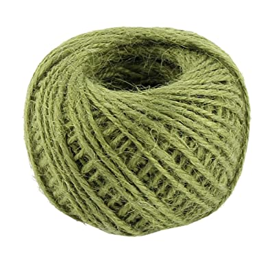 uxcell Jute Burlap Gift Tags Ribbon Twine Rope Cord String Pack Roll 2mm Dia 50m Length Green: Garden & Outdoor