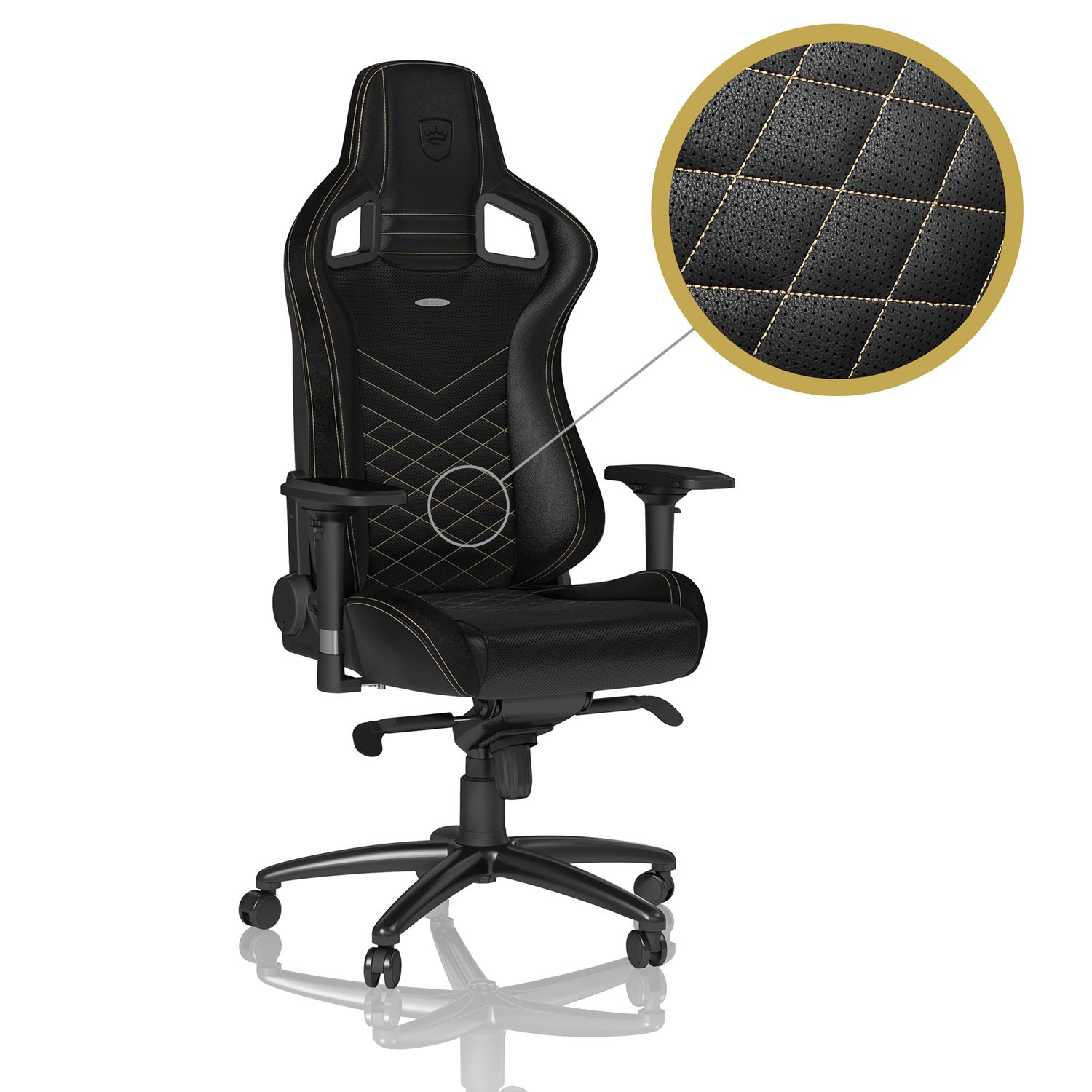 noblechairs EPIC - Black/Gold - Gaming Chair / Office Chair / Desk Chair